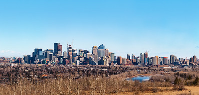 YYC Downtown West Winter View