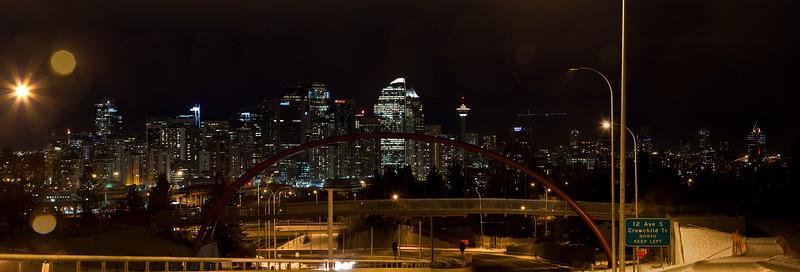 Bow Trail Bridge at Night