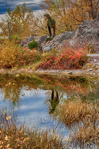 Autumn in the Prehistoric Park at the Calgary Zoo