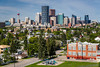 The city skyline of Calgary, Alberta, Canada.