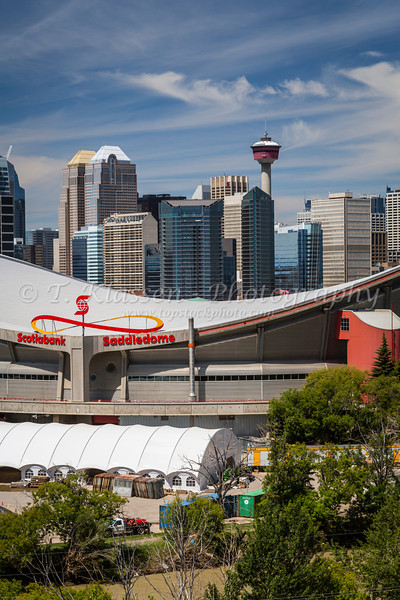 The city skyline of Calgary, Alberta, Canada.