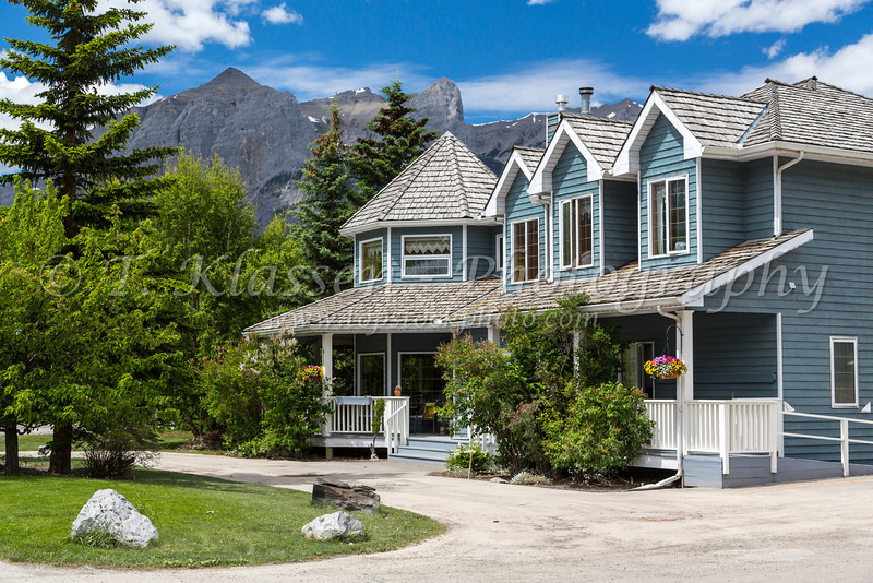 The Lady MacDonald Bed and Breakfast house in Canmore, Alberta, Canada.