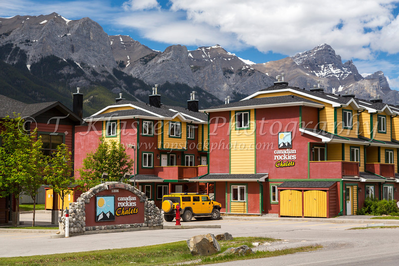 The Canadian Rockies Chalets in Canmore, Alberta, Canada.