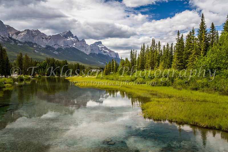 Spring Creek in Canmore, Alberta, Canada.