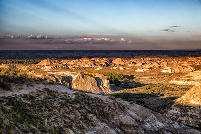 Sunset at Dinosaur Provincial Park
