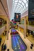 The West Edmonton Mall interior architecture and decor in Edmonton, Alberta, Canada.
