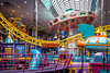 The West Edmonton Mall interior architecture and decor in Edmonton, Alberta, Canada.