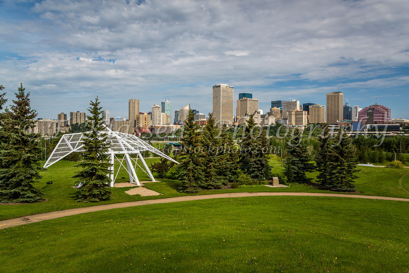 The city skyline of Edmonton, Alberta, Canada.