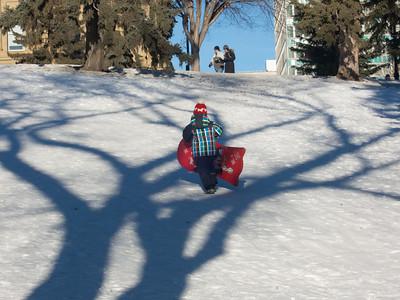 Enjoying Snow in Edmonton