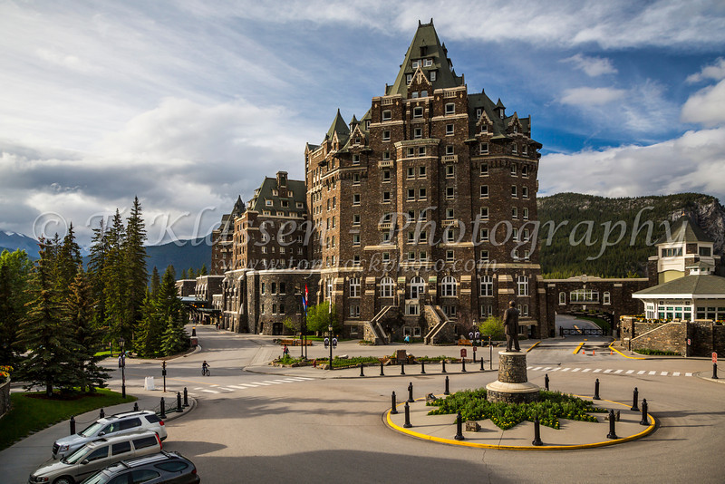 The Fairmont Banff Springs Hotel in Banff, Banff National Park, Alberta, Canada.