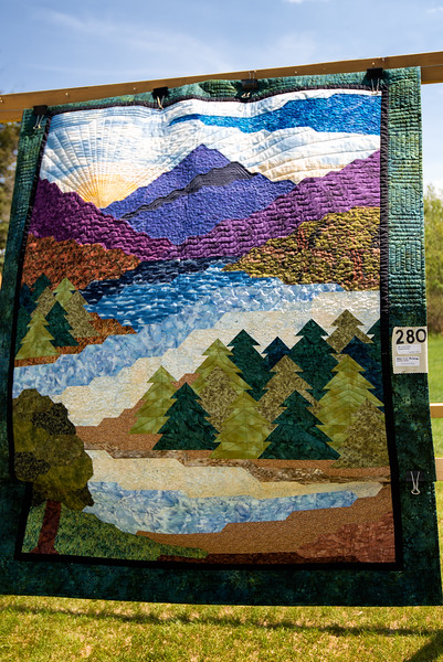Blow'n in the Wind Series;  Quilt - 'Sunset Serenity'  Janet Rooke