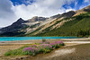 Bow Lake in Banff National Park, Icefields Parkway, Alberta, Canada.