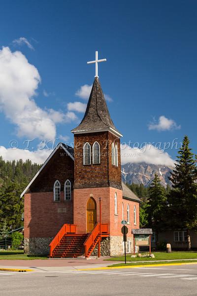 The Lutheran Church at Jasper, Alberta, Canada.
