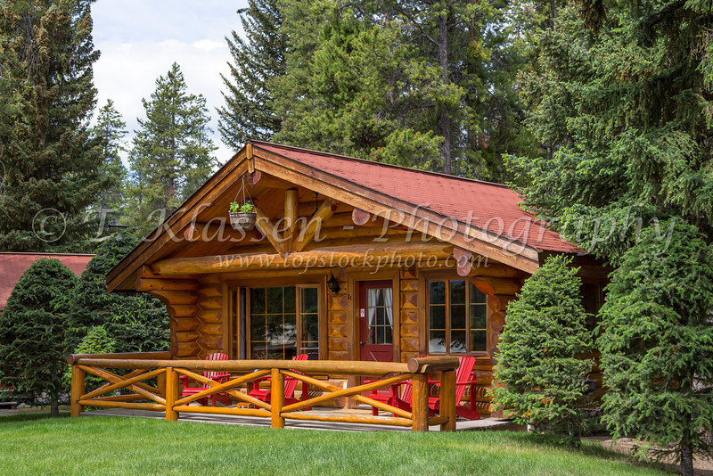 The Alpine Village Resort in Jasper National Park, Alberta, Canada.