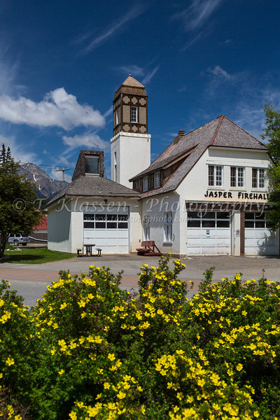 The Jasper Firehall in Jasper, Alberta, Canada.