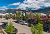 Shops in Jasper townsite, Jasper National Park, Alberta, Canada.