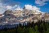 Evening view along the Icefield Parkway in Jasper National Park, Alberta.
