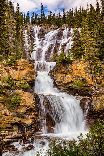 Tangle Creek Falls in Jasper National Park, Alberta, Canada.