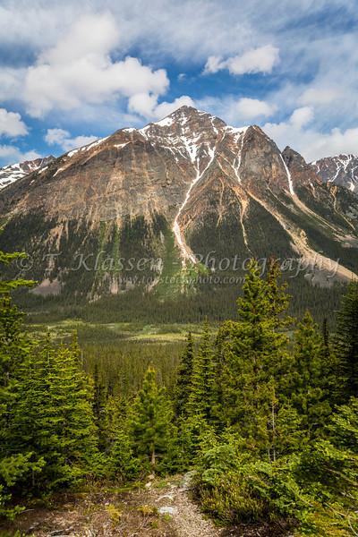 Pyramid Mountain in Jasper National park, Alberta, Canada.