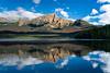 Patricia Lake and Pyramid Mountain reflections in Jasper National Park, Alberta, Canada.