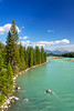 The Athabasca River along the icefields Parkway near Jasper, Alberta, Canada