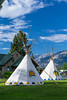 An aboriginal teepee at a park in Jasper, Alberta, Canada.
