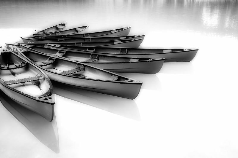 Canoe Dock - BW
