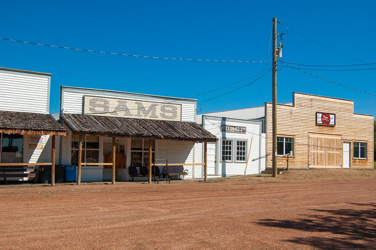 Ghost town at Rowley, AB