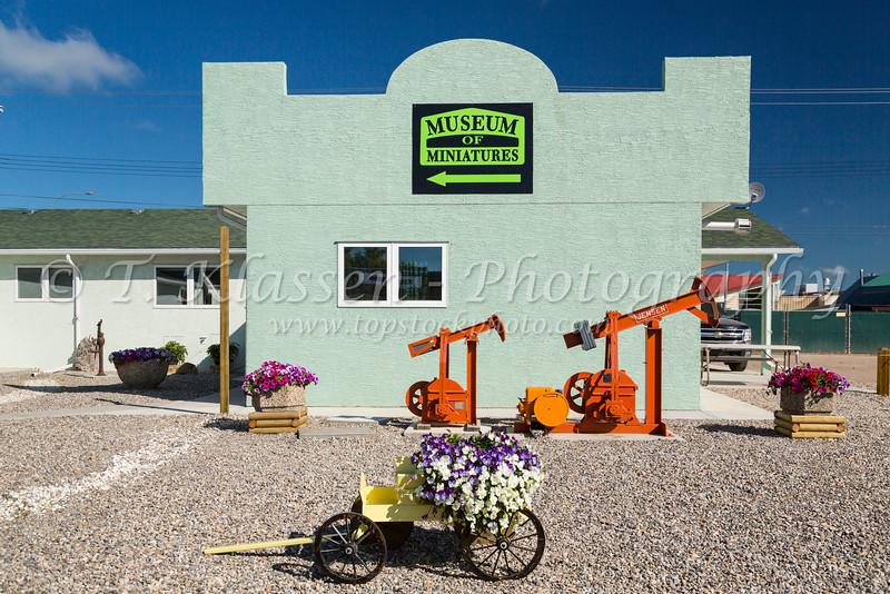 The Museum of Miniatures exterior facade in Nanton, Alberta, Canada.