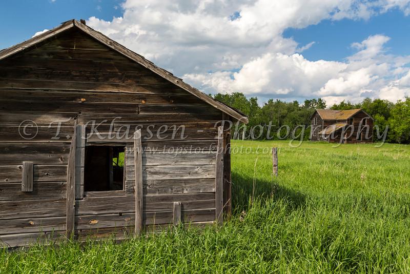 An old house near Innisfree, Alberta, Canada.