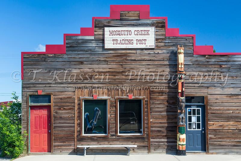 The Mosquito Creek Trading Post in Nanton, Alberta, Canada.