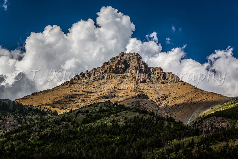 Mount Galwey along Red Rock Canyon Road in Waterton Lakes National Park, Alberta, Canada.