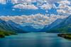 Upper Waterton Lake in Waterton Lakes National Park, Alberta, Canada.