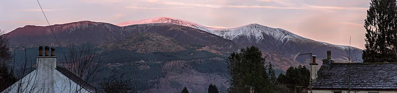 Sun 7th Jan @ 16:06 : Sunset Light On Skiddaw
