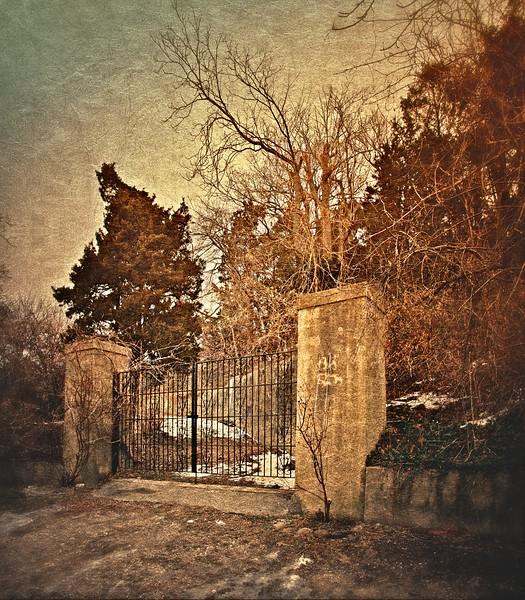 Gates of Ferguson's Castle, a.k.a. The Monastery, Huntington Bay, Suffolk County, Long Island, New York