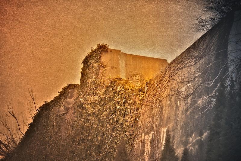 Walls of Ferguson's Castle, a.k.a. The Monastery, Huntington Bay, Suffolk County, Long Island, New York