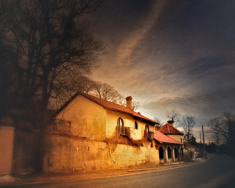 Gatehouse at Ferguson's Castle, a.k.a. The Monastery, Huntington Bay, Suffolk County, Long Island, New York