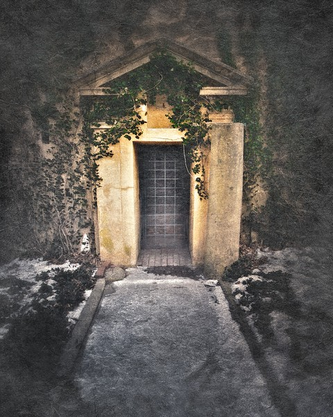 Entrance to Ferguson's Castle, a.k.a. The Monastery, Huntington Bay, Suffolk County, Long Island, New York