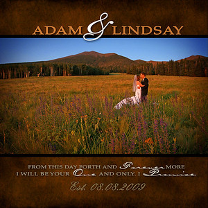 Adam & Lindsay's Album Design