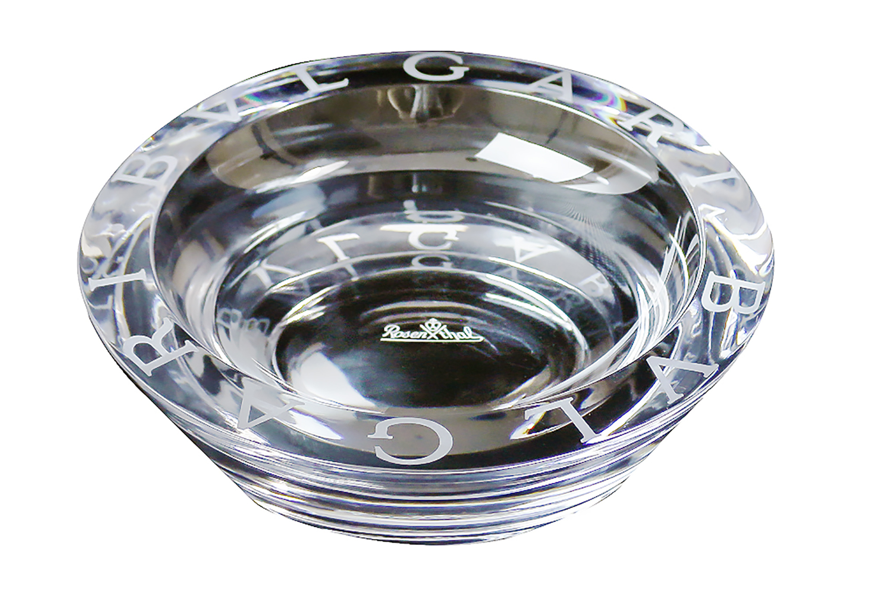 Bvlgari Rosenthal Crystal Large 47504 Round Ashtray