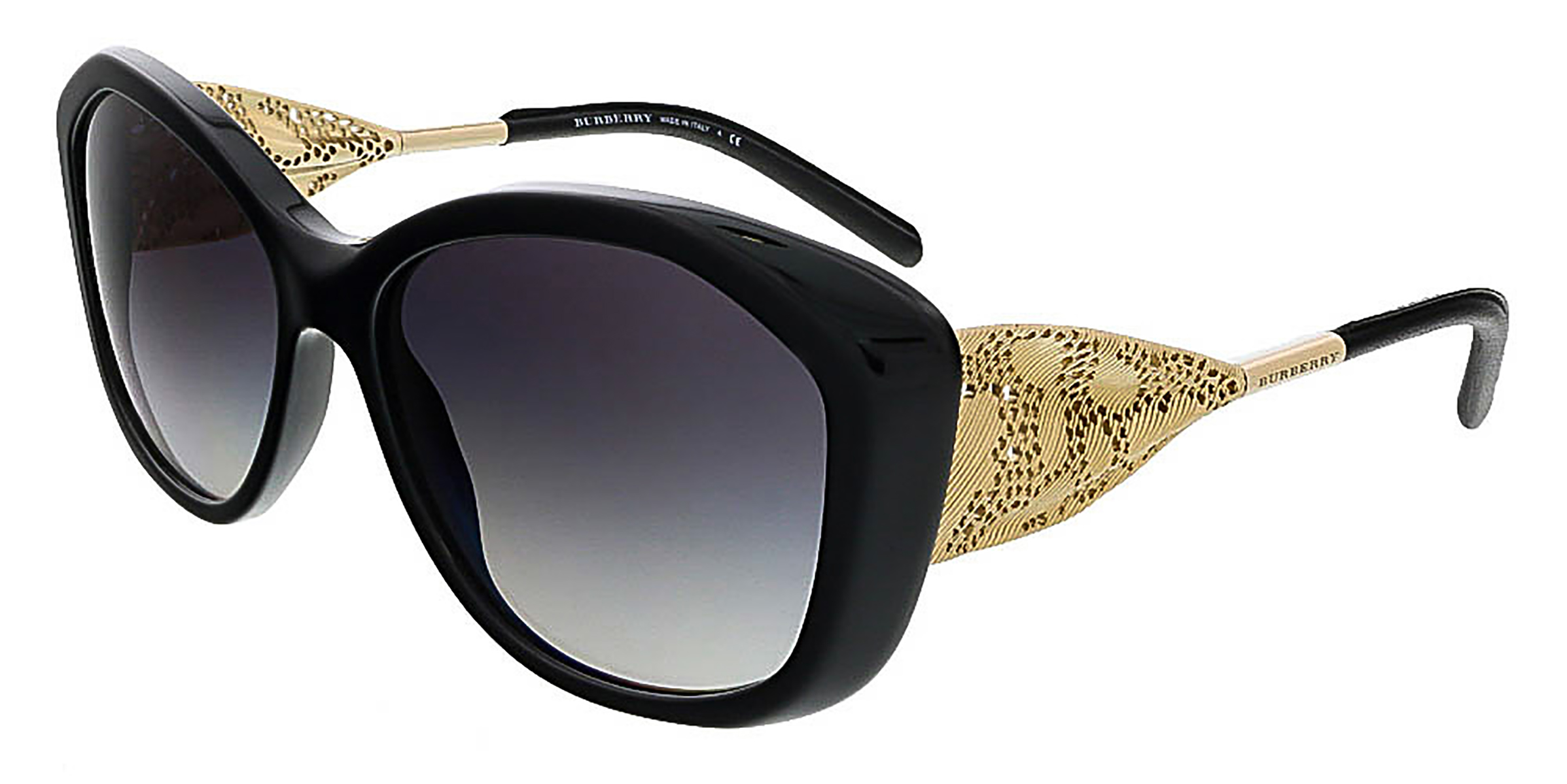 Burberry BE4208Q 30018G Black Oval Sunglasses