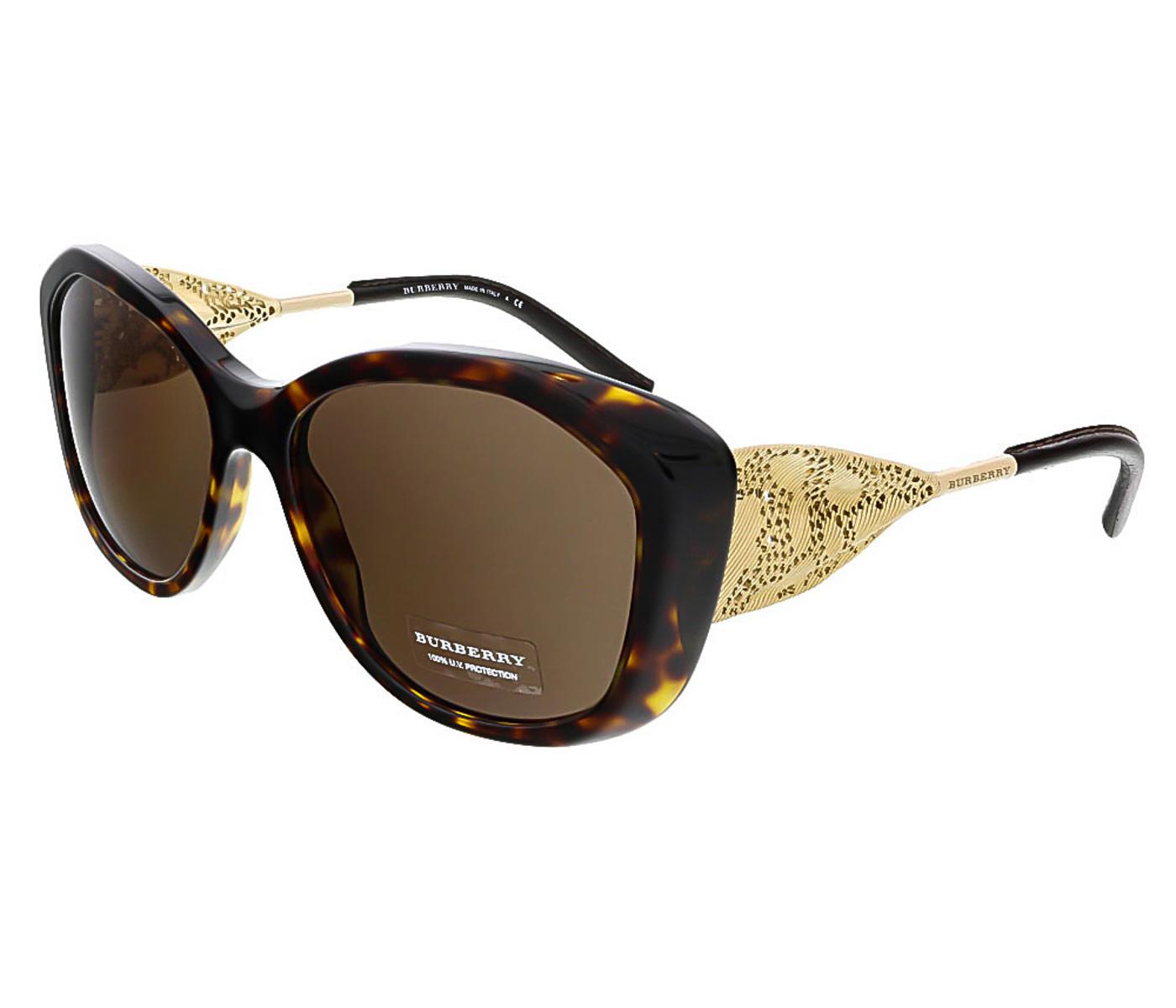 Burberry BE4208Q 300273 Dark Havana Oval Sunglasses