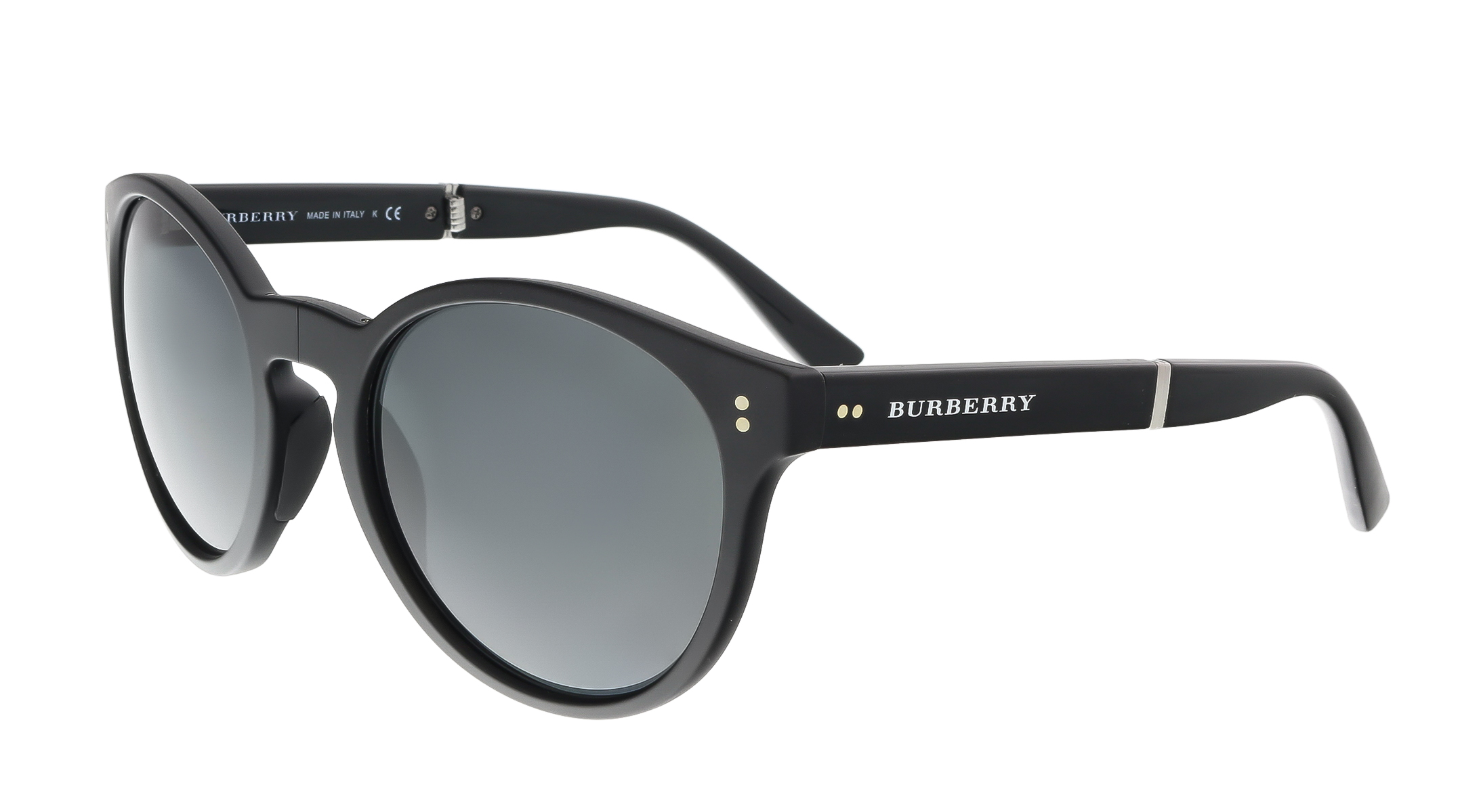 Burberry BE4221 35945V Matte Black Round Foldable Sunglasses