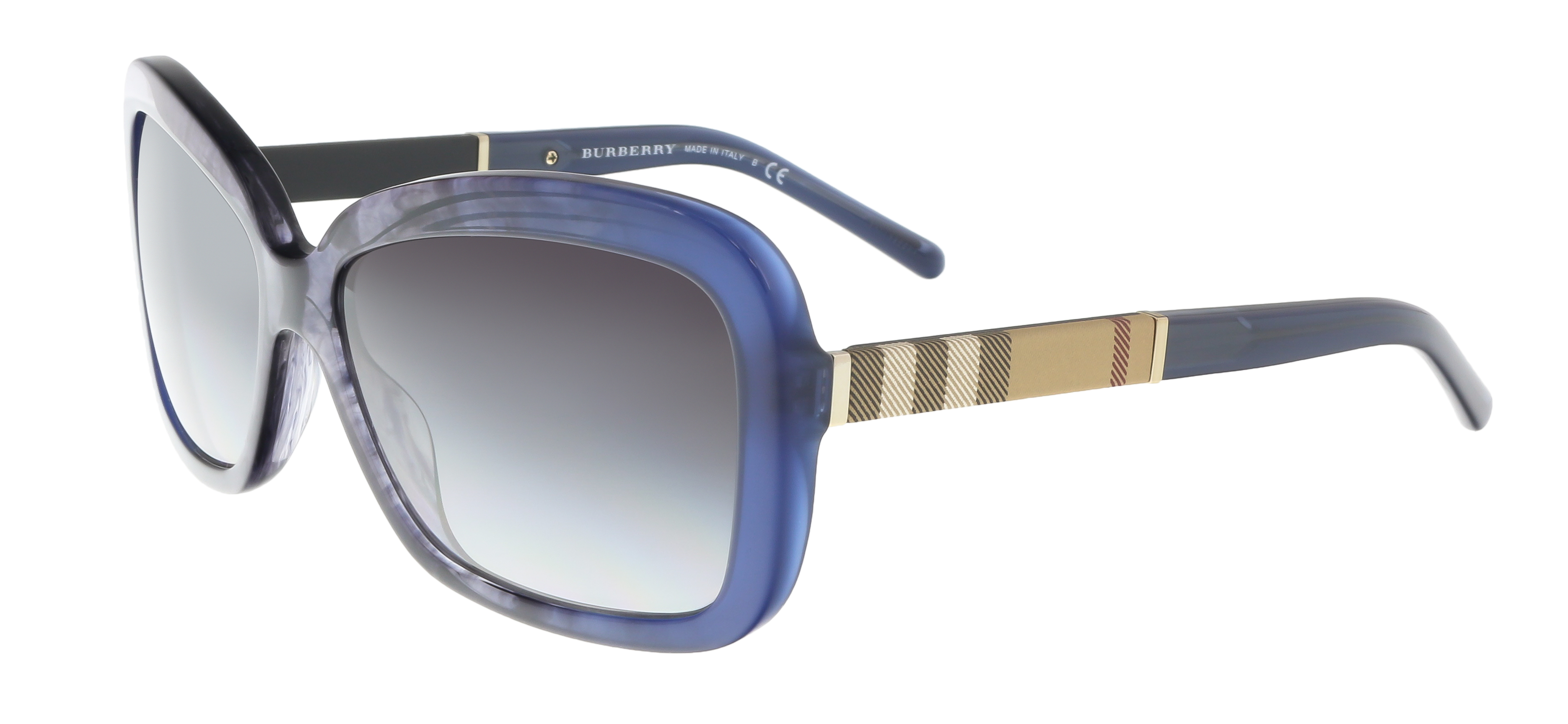Burberry BE4173 36138G Clear Blue Wayfarer Sunglasses
