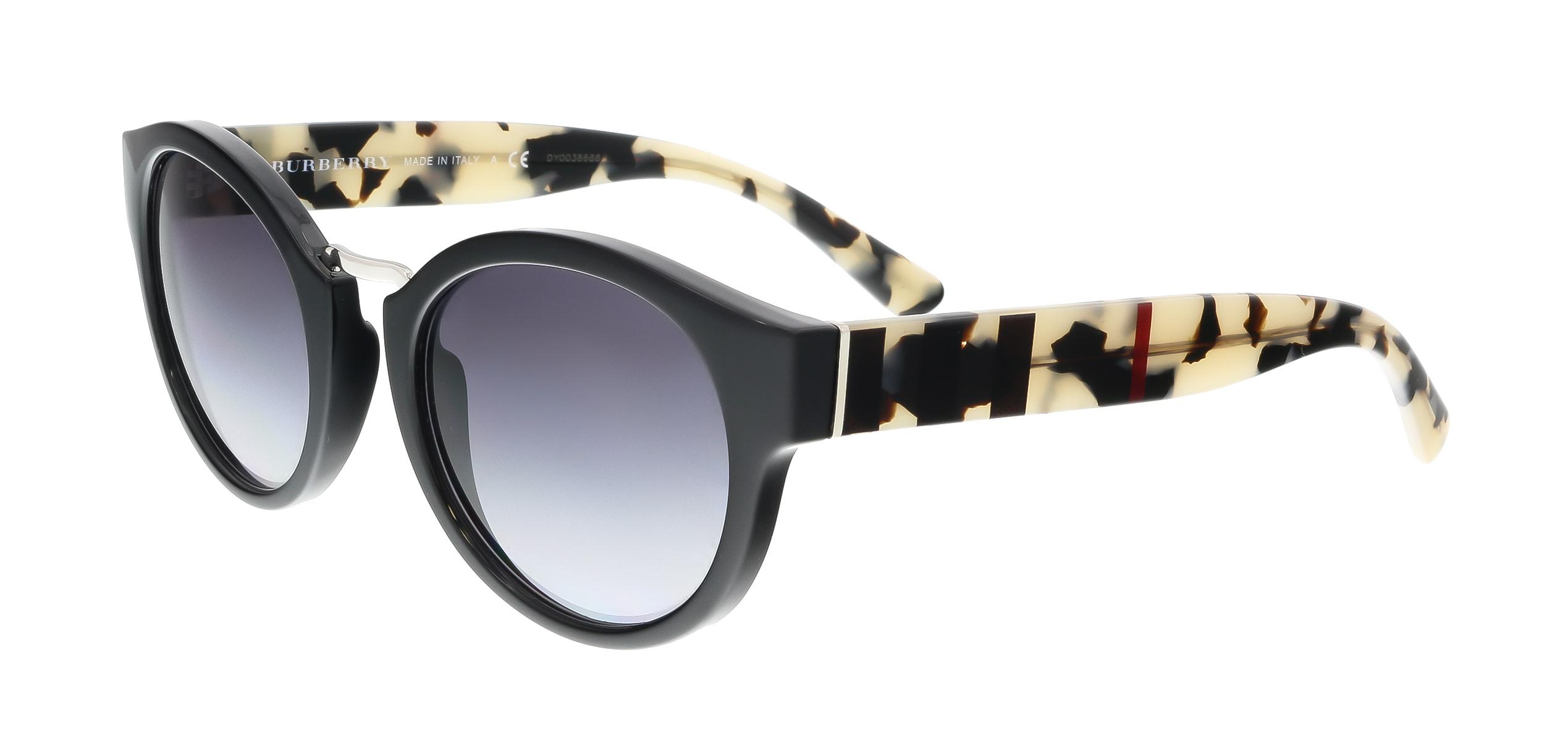 Burberry BE4227 36098G Black Round Sunglasses