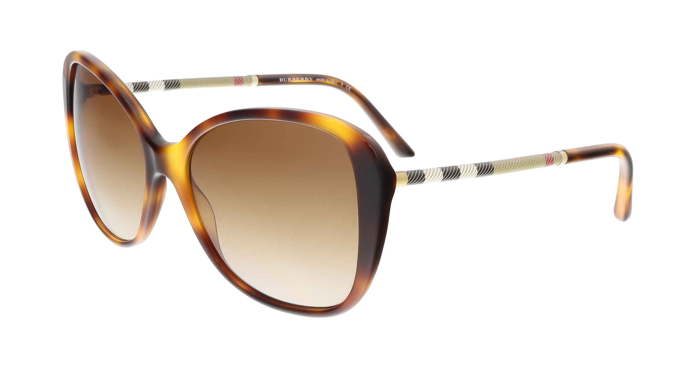 Burberry BE4235Q 331613 Ligth Havana Square Sunglasses