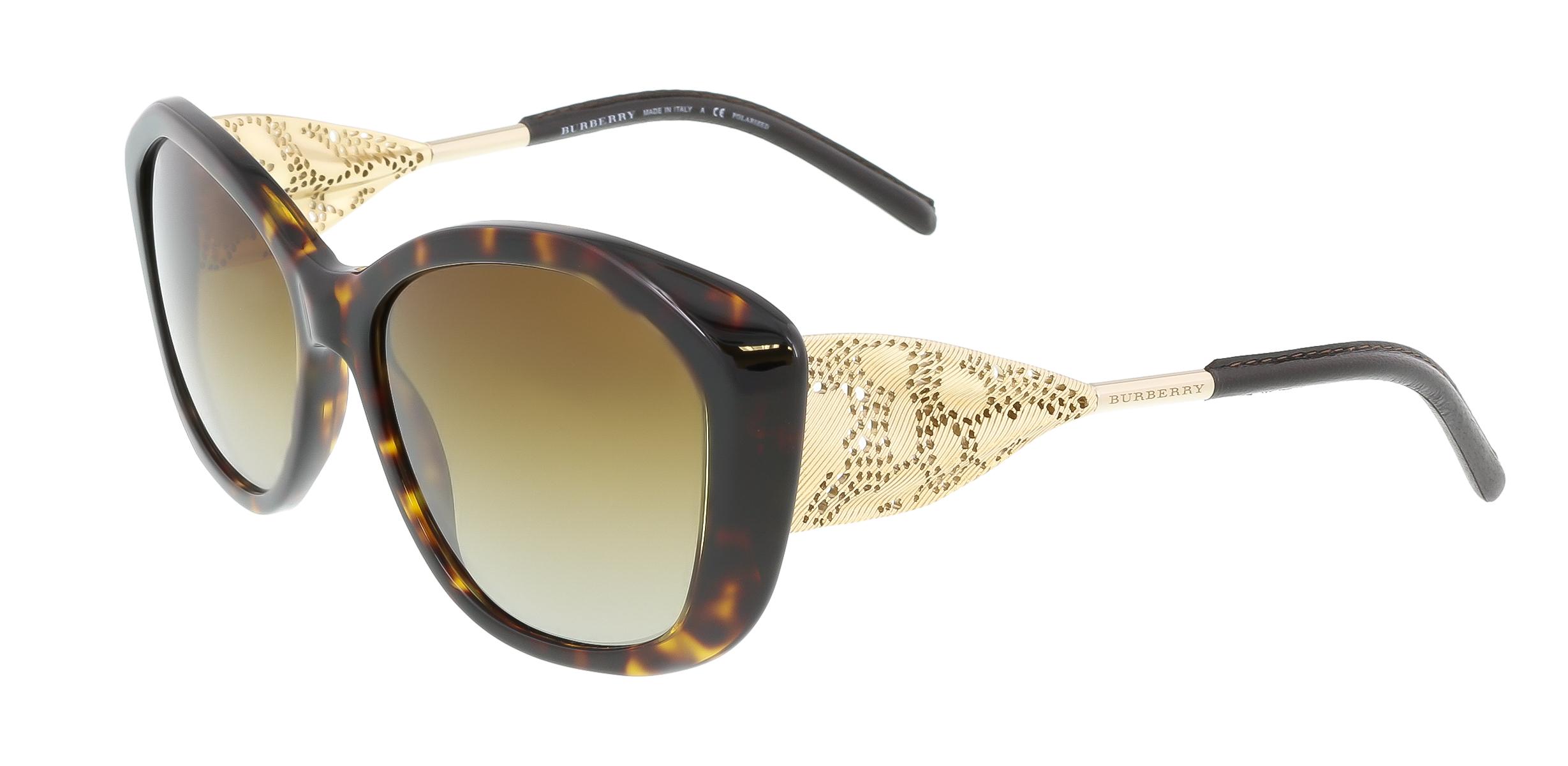 Burberry BE4208Q 3002T5 Dark Havana Oval Sunglasses