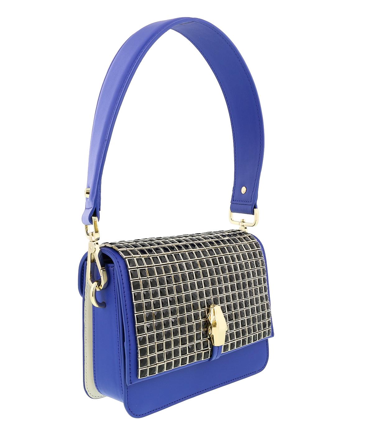 Class Roberto Cavalli Milano 008 Royal Blue/Black Medium Shoulder Bag