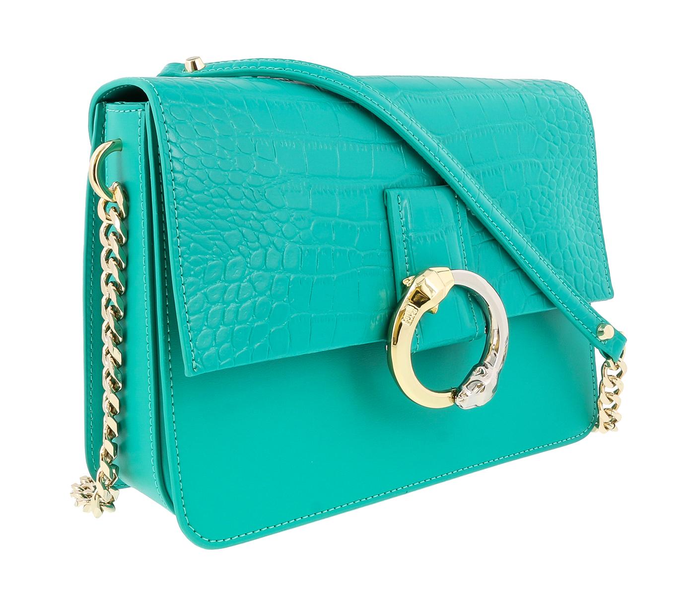 Class Roberto Cavalli Paris 002 Green Medium Shoulder Bag
