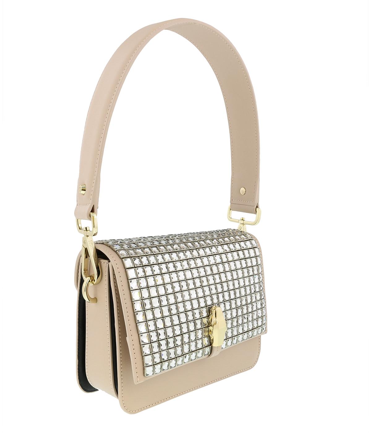 Class Roberto Cavalli Milano 008 Nude/White Medium Shoulder Bag
